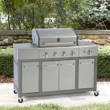 kenmore bbq. kenmore 4 burner stainless steel lid gas grill with storage | shop your way: online shopping \u0026 earn points on tools, appliances, electronics more bbq
