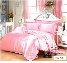 light pink bedding sets quilts solid pink twin quilt pink gold silk bedding set satin super