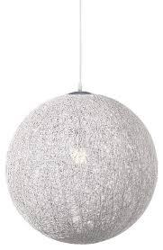 round pendant lamp white