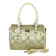 Discount Coach Madison Logo Medium Apricot Luggage Bags Dki Outlet TOALp