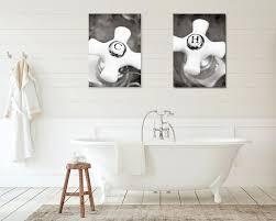 rustic bath decor set of two prints hot