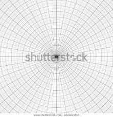 Polar Graph Paper Vtctor Illustration Concentric Stock