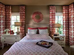 Coral Colour Wall Cute Bedroom