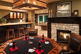 Light Brown Man Cave Poker Room