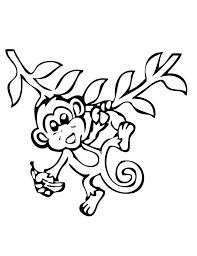 Cute Pictures To Print Coloring Pages Of Monkeys Cute Monkey Color