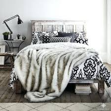 black panther faux fur king duvet cover set lynx faux fur duvet cover set king size
