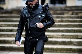 the architect wearing all leather