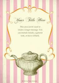 tea party templates tea party flyer template free barca fontanacountryinn com