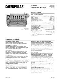 cat c spec sheets caterpillar marine power systems pdf cat c280 16 spec sheets 1 16 pages