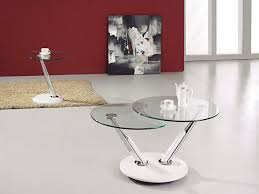Round Glass Coffee Table Modern