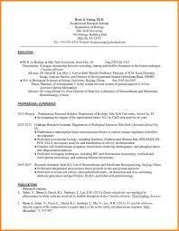 13 Biology Resume Letter Adress