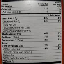 honey nut cheerios nutrition facts honey nut cheerios nutrition facts