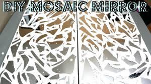 Broken Mirror Wall Art Diy Mirror Mosaic Wall Art Petalisbless Youtube