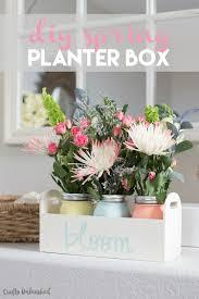 Painted Mason Jars Diy Planter Box For Spring Consumer Crafts
