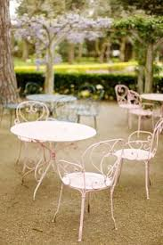 pretty pink chairs and tables