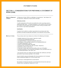 Scope Of Work Example Consulting Best Template Statement