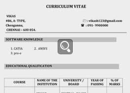 Indian Resume Format For Freshers Indian Teachers Resume Indian