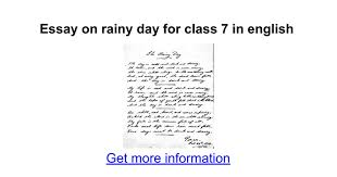 essay on rainy day for class in english google docs
