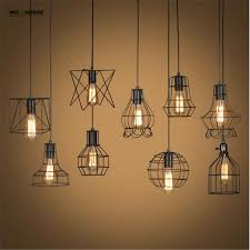 retro lamp shades industry metal pendant lamps holder vintage style iron hanging light shade edison bulb