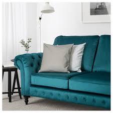 grevie 2 seat sofa velvet blue ikea