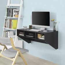 Wall mounted office desk Modern Details About Haotian Black Wallmounted Table Desk With Drawers Home Office Desk Ebay Haotian Black Wallmounted Table Desk With Drawers Home Office