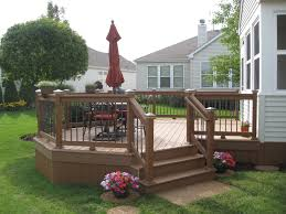 other custom outdoor structures custom trex deck with aluminum baers and post caps