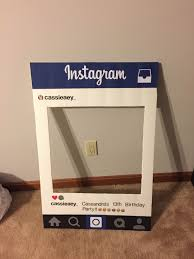 instagram cut out photo prop from poster board and sbook paper breathtaking frame template ideas