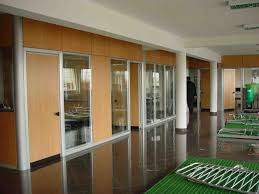 room dividers for office. Silver Aluminium Glass Transparent Divider Stainless Steel Bowl Pendant Lamp Brown Wood Varnish Full Area Floor Room Dividers For Office