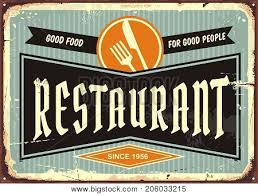 Signboard Template Restaurant Sign Knife Vector Photo Free Trial Bigstock