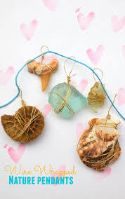 easy wire wrapped nature pendants