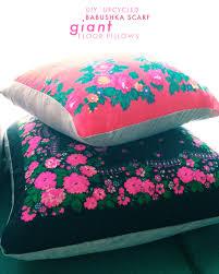 floor pillows diy. 8/26/13Upcycled Babushka Scarf Pillows DIY Floor Diy