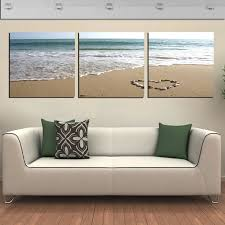 aliexpresscom buy 3 panel wall art pictures romantic on 3 panel wall art beach with 3 panel wall art canvas elitflat