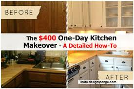 Kitchen Make Over The 400 One Day Kitchen Makeover A Detailed How To