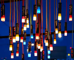 colorful chandelier lighting. Best Colorful Chandelier Lighting Ambience Re Purposes Old Posca Markers Into A O