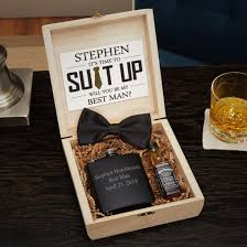 suit up engraved groomsmen gift flask