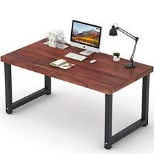 office desk workstation. Tribesigns 55\u201d Rustic Solid Wood Computer Desk, Vintage Industrial Home Office  Desk Workstation PC Office Desk Workstation