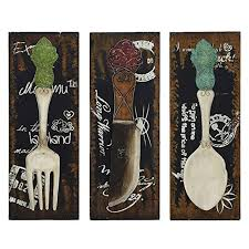 stupendous large utensil wall decor big spoon and fork trendy wall with regard to best and