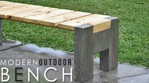 concrete and wood furniture. MODERN Outdoor Concrete And Wood BENCH Furniture