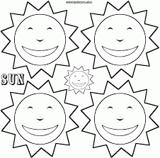 Small Picture Coloring Pages Two Clouds On Sun Coloring Page Wecoloringpage
