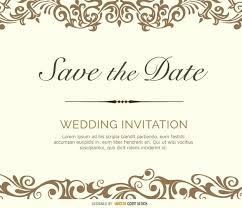 Save The Date Template Word Free Save The Date Templates Flourish Card Vector Download
