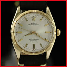 rolex solid gold watch vintage rare rolex 6565 oyster perpetual 14k solid yellow gold mens watch