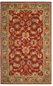 safavieh heritage hg403a red blue 2 3 x8 rug