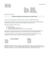 How To Request Employment Verification Letter From Employer Income Verification Form Template Wepage Co