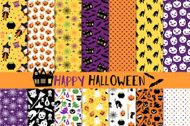 Halloween Pattern Best Cute Halloween Digital Paper Pack Halloween Seamless Pattern
