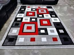 geometric rug red black white modern contemporary gray area rugs new and uk geometric rug white black