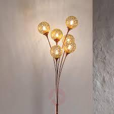 Staande Lamp Greta Met 6 Lichtbronnen Roest Look