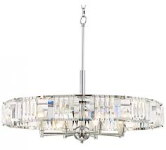 chrome crystal chandelier possini euro chrome 29 wide crystal pendant light
