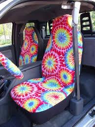 tie dye color print car seat