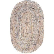 eliz jute blue 5 ft x 8 ft oval area rug