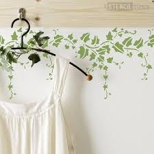 ivy border stencil trailing ivy leaf
